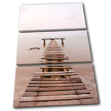 Old sea Pier Sunset Seascape - 13-0420(00B)-TR32-PO